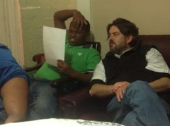 Scott and Abongile, deep in conversation about school and goals...