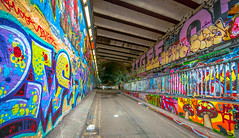 Tunnel Visions (faranorclarke) Tags: urban colour london art underground graffiti nikon tag wide sigma wideangle tunnel tags waterloo colourful 1020mm 1020 tunnelvision lightroom d90 waterloograffititunnel
