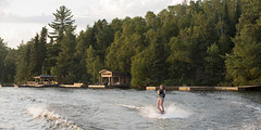 Lake of the Woods 2012 (keithlevit) Tags: summer lake ontario canada motion tree tourism nature water childhood horizontal forest fun outdoors holding wake day child fulllength wave tourist spray waterskiing balance tween extremesports excitement vacations enjoyment onthemove scenics lakeofthewoods oneperson waterski frontview watersport keewatin onegirlonly preadolescentchild onechildonly