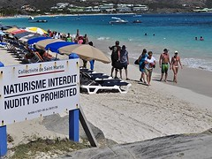 Nudity Is Prohibited (AntyDiluvian) Tags: beach sign island saintmartin stmartin naturism tropical caribbean nudity sxm prohibited sintmaarten interdit naturisme orientbeach frenchwestindies fwi frenchside