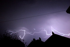 Lightning (TR7 man) Tags: above england rooftops lightning essex colchester