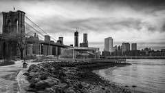 Brooklyn Bridge Park, NYC (Kai Sarton) Tags: nyc newyorkcity bridge blackandwhite bw brooklyn manhattan carousel brooklynbridge janes