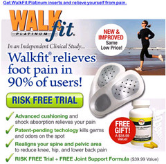 WALKFIT PLATINUM FOOT ORTHOTICS - Arch Support Insoles -Relieve Foot Pain, Back Pain, Hip Pain, Leg Pain, Knee Pain, Balance, Alignment – Doctor Designed - OVER 10 MILLION SOLD! -Men/Women