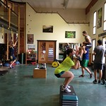 BC Team hits the gym on day one of the 2013 Fernie Dryland Camp PHOTO CREDIT: JP Daigneault