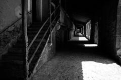 [Mysterious Lluc] (ez90) Tags: light shadow blackandwhite bw church canon spain mood noiretblanc mark nb ii 5d espagne baleares lluc mysteriouslluc