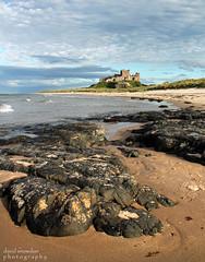 Bamburgh Rocks and Castle (Dave Snowdon (Wipeout Dave)) Tags: beach coast rocks northumberland shore bamburgh djs bamburghcastle wipeoutdave canoneos1100d djs2013 davidsnowdonphotography