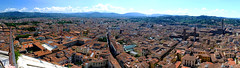 Florence and hills (tubblesnap) Tags: santa roof red italy del tile florence cityscape maria basilica campanile di firenze duomo fiore giottos basilicadisantamariadelfiore