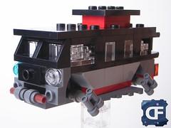 Cyberpunk VW (5) (Dead Frog inc.) Tags: fiction black volkswagen punk lego space gray mini science scifi spaceship fi van volks sci spacecraft cyber moc wagen