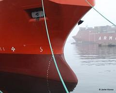 Bulbos de buques (86) (javier_cx9aaw) Tags: de shipyard shipbuilding bulbos proa puertovigo industrianaval astillerosconstrucciones cxaaw