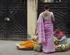 D7K 5221 ep (Eric.Parker) Tags: flowers india garland saree kolkata sari bengal calcutta 2012 kalighat kalitemple