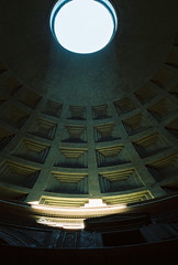 Beam of light (Laxaa) Tags: old city trip light vacation urban italy rome analog 35mm ancient cathedral pantheon olympus ceiling beam imperial