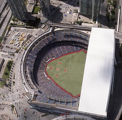 The Jays game (handful of bees) Tags: toronto cntower hasselblad bluejays rogerscentre