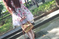 Kawaii Mori Objects (David & Anne's) Tags: cute floral stockings girl socks vintage bag shoes dress lace lolita kawaii vrs legwear pinkanne morifashion vision:mountain=0766 vision:plant=0664 vision:outdoor=0847