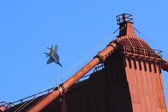 F/A-18 Hornet and Golden Gate (fauxtophile) Tags: marin goldengate blueangels fleetweek fa18hornet