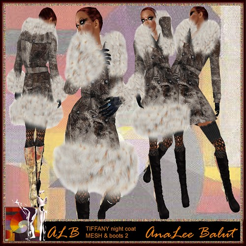 ALB TIFFANY night coat - MESH & ESTELLA boots 2 by AnaLee Balut - ALB DREAM FASHION
