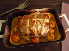 Pork tenderloin in the oven with shrimp - Food From Portugal (Food From Portugal) Tags: food portugal comida shrimp pork camaro puree tenderloin porco pur lombinhos
