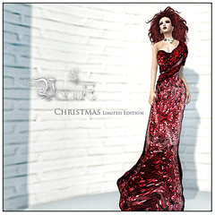 CHRISTMAS LIMITED EDITION (Zalyn Bailey.) Tags: christmas xmas ladies red fashion formal sl vogue secondlife gift gown limitededition longdress zalynbailey slvogue