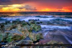 Ocean beach waves at blowing rock Jupiter Florida (Captain Kimo) Tags: beach coral sunrise rocks florida jupiter blowingrocks tequesta photomatixpro hdrphotography oscean captainkimo