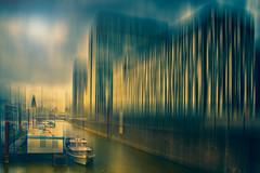 Hafen und Dom in Köln (radonracer) Tags: motion blur cologne köln digiart rhein hafenbecken radonart