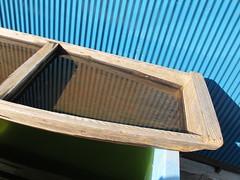 trough of water (Samm Bennett) Tags: reflection water japan reflect chiba onjuku corrugated trough