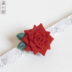 Lancaster Rose (Wisteria Gardens) Tags: rose japan hair design kyoto handmade brooch silk clip maiko geiko hana geisha sunflower yukata kimono obi pinwheel hairpin kitsuke tsumami kanzashi obidome