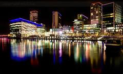 Farewell MediaCity.. (Philip R Jones) Tags: nightphotography night lights colours salfordquays windy brightlight bbc brightlights colourful fusion salford hdr 3xp chopy mygearandme bbcmediacityuk