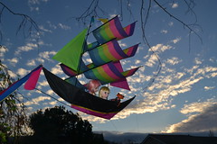 Flying Away in their Pirate Ship