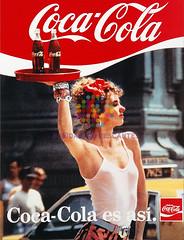 """Coca Cola. """"Es así. Camarera"""". Años 80"""