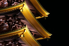 Asakusa Senso-ji Temple Five-story Pagoda (Copel.K) Tags: light japan tokyo pagoda nightshot details illumination lightup nightview asakusa  architecturaldetails sensouji   coth  japanesearchitecture sensoujitemple coth5 vision:outdoor=0736 vision:sky=0555