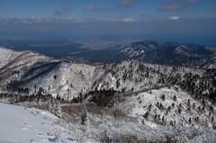 At the summit of Mt. Bunagatake, Shiga /  (Kaoru Honda) Tags: winter white mountain snow nature japan trekking landscape japanese nikon outdoor hiking mountainclimbing mountaineering       shiga  mountaintrail hira    lakebiwa     bunagatake d7000