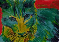 """Chili"" (BKHagar *Kim*) Tags: original cats art cat painting artwork feline mine paint chili acrylic kitty kitties impressionist bkhagar"