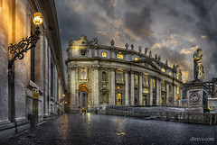 St. Peter Basilic (Vatican, Rome) (dleiva) Tags: city italy rome roma church st de san italia cathedral basilica columns mona vaticano pedro peter domingo vaticani leiva basilic dleiva