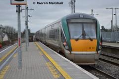 22037 departs Portlaoise, 8/3/14 (hurricanemk1c) Tags: irish train rail railway trains railways irishrail rok rotem 2014 portlaoise icr iarnrd 22000 22037 ireann iarnrdireann premierclass 1020heustonportlaoise 5pce