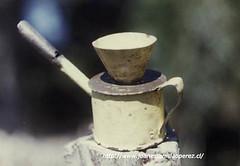 Diuca, un instrumento para acompañar el ceremonial religioso de la Virgen de la Inmaculada Concepción, localidad de Cálen, Dalcahue, Archipiélago de Chiloé, X Región. Febrero de 1987.
