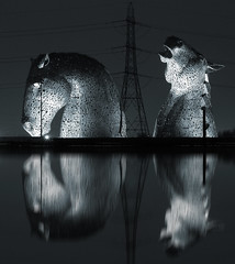 Electric Kelpies (kenny barker) Tags: 30 scotland falkirk kelpies
