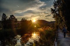 Tramonto sul laghetto di Galzignano (tampurio) Tags: sunset sky italy panorama cloud sun sunlight lake clouds sunrise landscape lago mirror italia tramonto nuvole sony s cielo tramonti sole acqua riflessi paesaggi paesaggio padova padua mirroring veneto galzignano galzignanoterme slta58