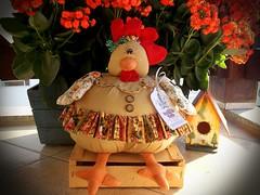 Galinha (Sonhos de Tecido) Tags: galinha artesanato decoração