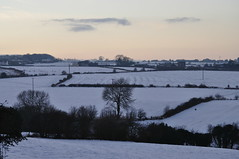 December's Snow (littlestschnauzer) Tags: uk trees winter england white snow cold west nature rural season landscape countryside nikon december village snowy yorkshire farmland fields british pastures 2014 emley hedgerows d5000