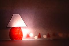 LumièreS (Nath B.) Tags: winter light red art lamp paper rouge lampe lumière hiver dream papier guirlande lampion cocooning fanion