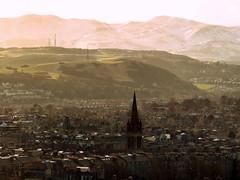 Edinburgh City View (Ludovic Farine) Tags: city uk winter buildings walking dawn scotland arthur edinburgh cityscape tour view hiking seat scottish sunny viewpoint pentlands