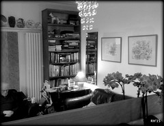16th Feb: A Moment of Quiet Reflection (Richard Hone) Tags: birthday blackandwhite bw monochrome mirror dad father celebration 90thbirthday quietreflection day47 day47365 365the2015edition 3652015 16feb15