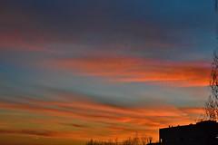 Sunset colours (vascocoimbra) Tags: sunset sky cloud colors skyline clouds colours shadows time stack cloudporn sunsetporn skyporn