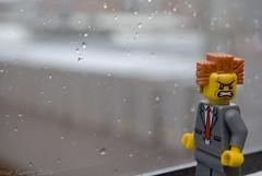 Odio que llueva! (Marmotuca) Tags: boss rain lluvia lego chuva hate enfado jefe odio odeio