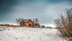Sipping On Time (Wayne Stadler Photography) Tags: old winter house snow canada cold rural alberta homestead prairies