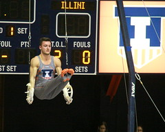 Wilner on rings (RPahre) Tags: mikewilner rings stillrings lsit universityofminnesota universityofillinois gymnastics huffhall huff champaign illinois robertpahrephotography copyrighted donotusewithoutwrittenpermission