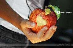 Health and Wellness (Francesco Carta) Tags: people colour love apple horizontal closeup photography nikon indoors part 60mm oneperson freshness d300 blessyou healthyeating midsection tempiopausania humanhand childrenonly focusonforeground onegirlonly francescocarta carvingfood heartshapechild partofthehumanbody preparationoffoods