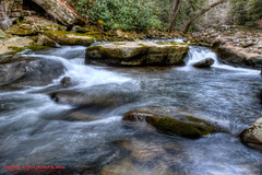 On Rock Creek - Rock Creek Gorge Section of the Cumberland Trail (mikerhicks) Tags: winter usa landscape geotagged unitedstates hiking tennessee hdr rockcreek coulterville photomatix cumberlandtrail tennesseestateparks salecreek cumberlandtrailstatepark rockcreekgorge canon7dmkii sigma18250mmf3563dcmacrooshsm geo:lat=3542158833 geo:lon=8516153000 threegorgessegment rockcreekgorgesection