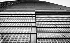 Heron Tower (Sean Batten) Tags: city windows england urban blackandwhite bw london window glass lines architecture 35mm nikon df unitedkingdom thecity financialdistrict herontower