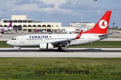 TC-JKK LMML 08-02-2015 (Burmarrad) Tags: cn aircraft airline boeing airlines turkish registration 34298 737752 lmml tcjkk 08022015