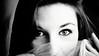 Number Seventeen (Christine Lebrasseur) Tags: portrait people blackandwhite woman france art canon veil hidden teenager 169 fr glance onblack gironde léane saintloubes allrightsreservedchristinelebrasseur